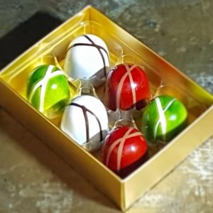 Box of 6 ganache chocolates