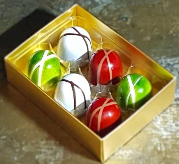 Box of 6 ganache chocolates