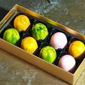 personalised chocolate box of 8 luxury handmade marshmallow chocolates