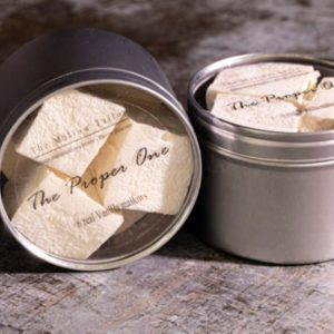 tin of 6 vanilla mallow, marshmallow gifts from the mallow tailor