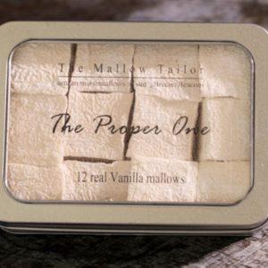 tin of 12 vanilla mallow