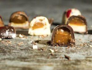 salted caramel and mallow chocolates