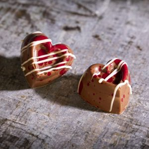 2 valentines Chocolates, personalised chocolate gifts from The Mallow Tailor