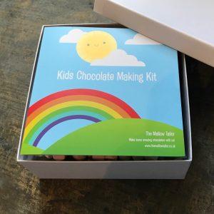 kids chocolate making kit box opened